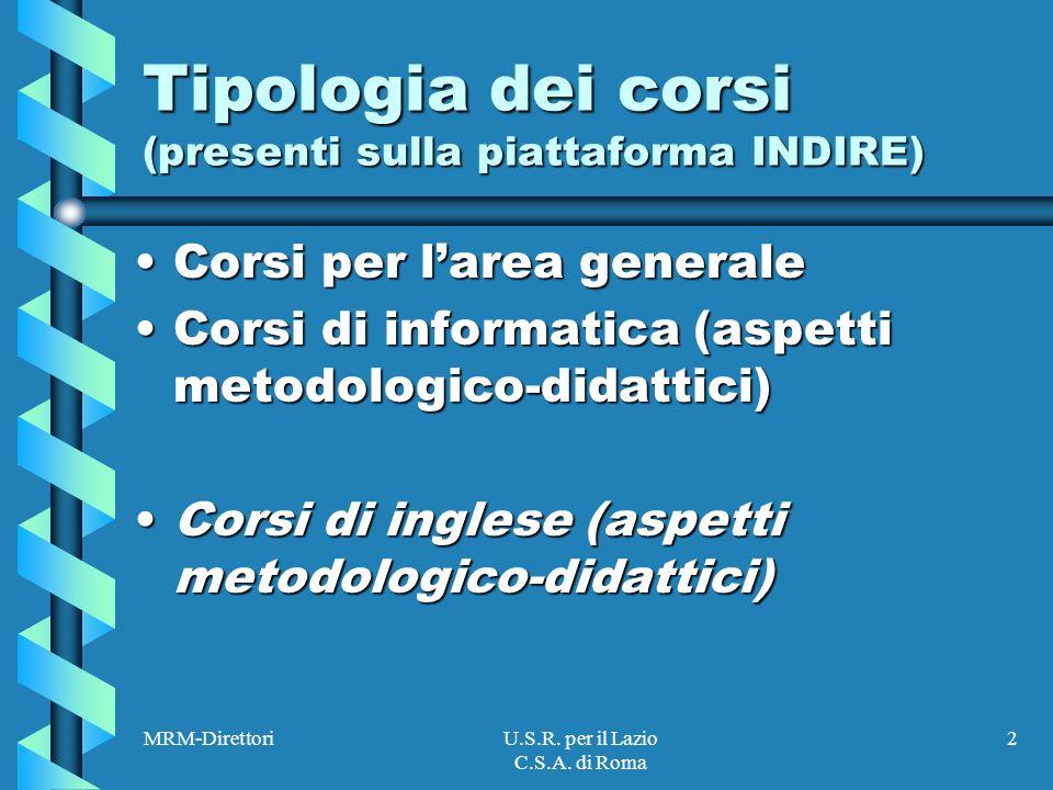 MRM-DirettoriU.S.R.per il Lazio C.S.A.