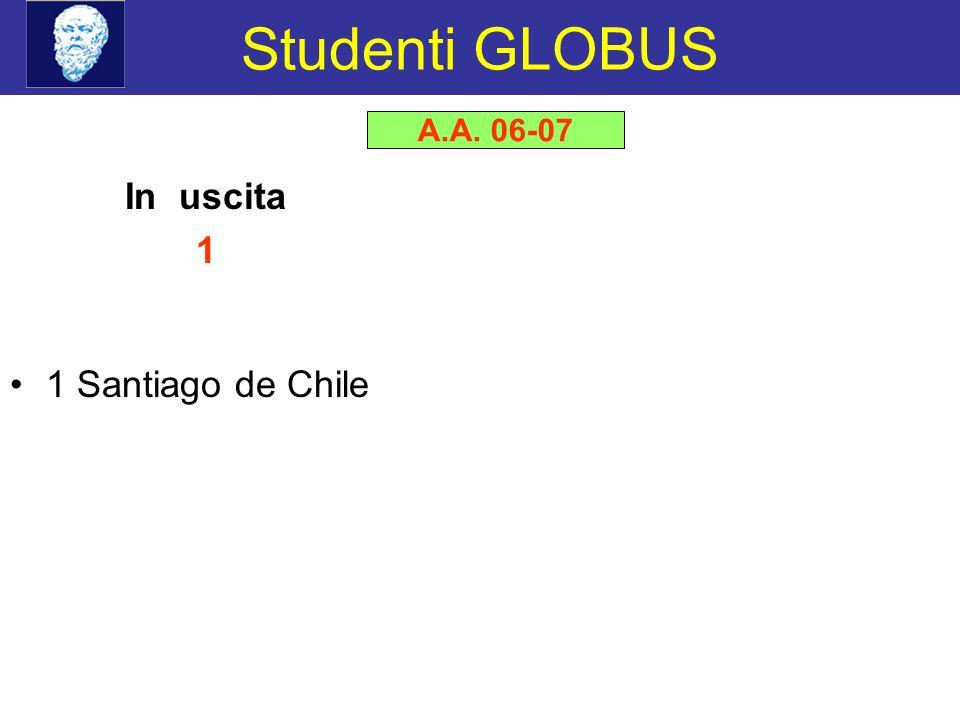 Studenti GLOBUS In uscita 1 1 Santiago de Chile A.A. 06-07