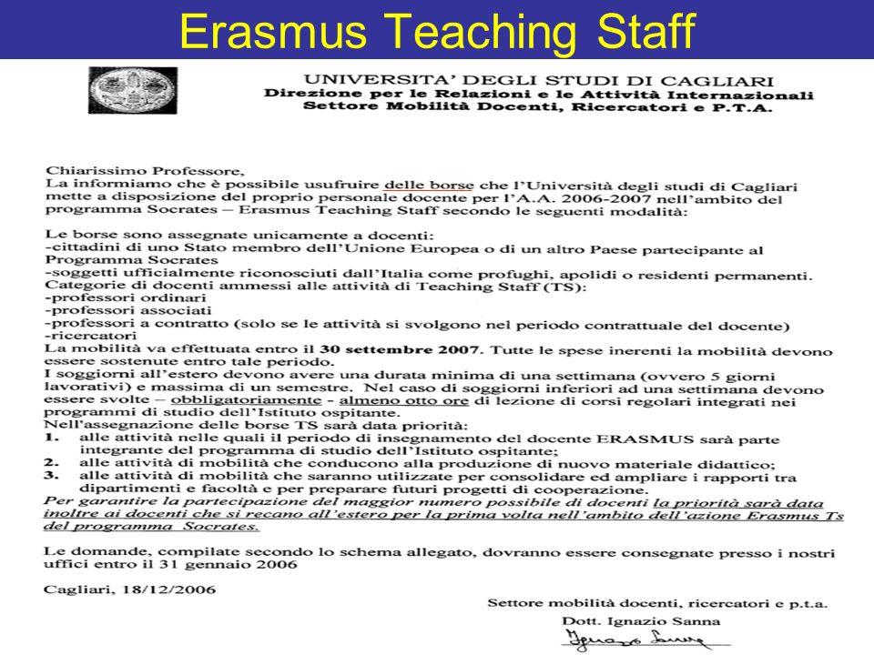 Erasmus Teaching Staff