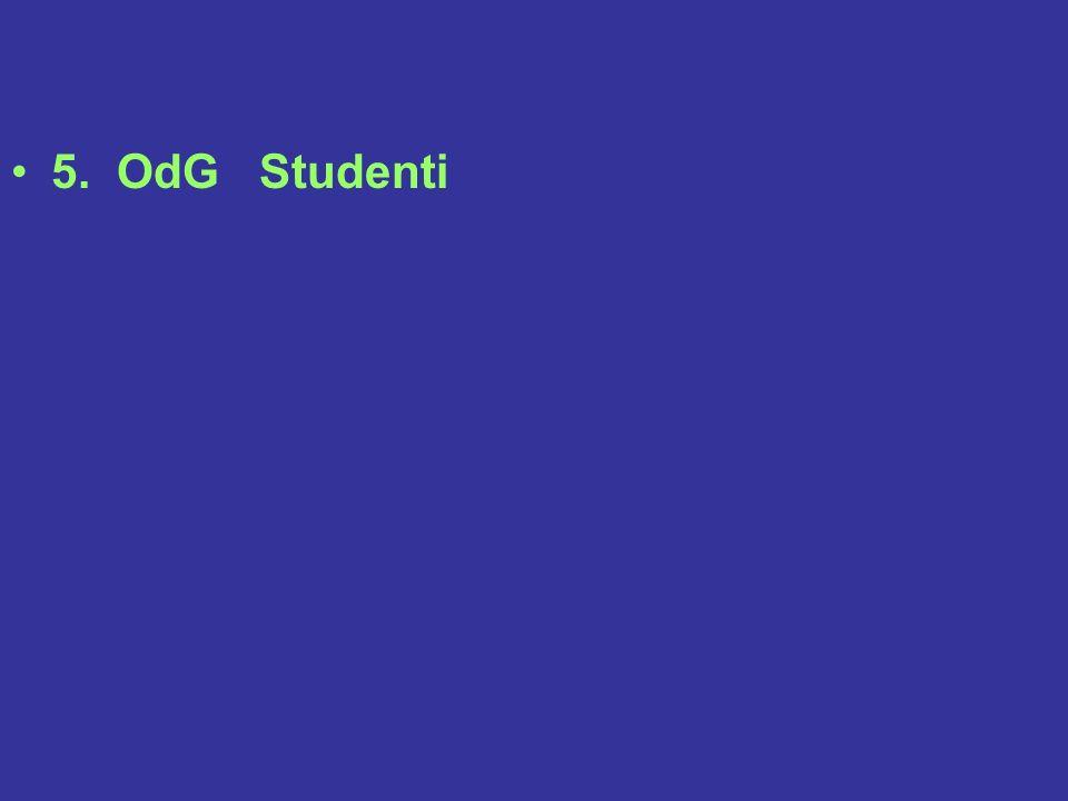 5. OdG Studenti