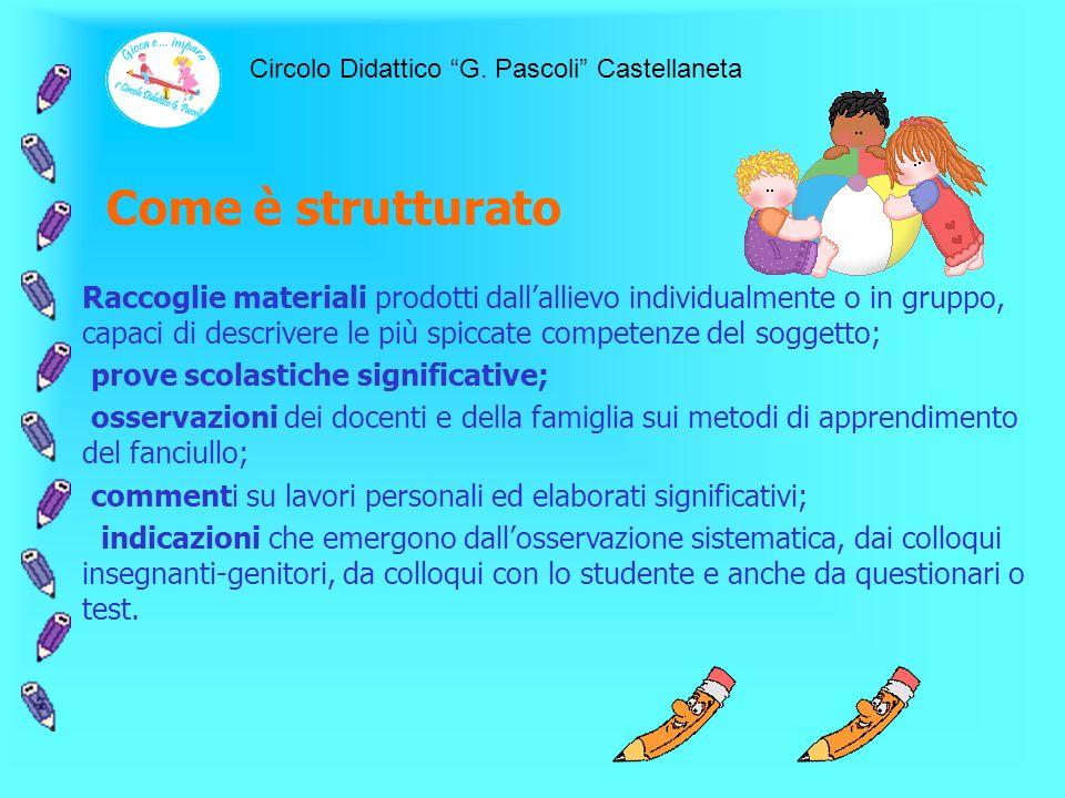 Cosè Il portfolio delle competenze individuali è una raccolta ordinata di materiali dellalunno predisposta dallequipe in collaborazione con la famigli