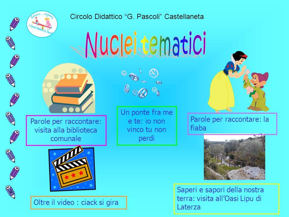 Circolo Didattico G. Pascoli Castellaneta Progettazione educativa e didattica Unità di apprendimentoNuclei tematici Esperienze e conoscenze Abilità e