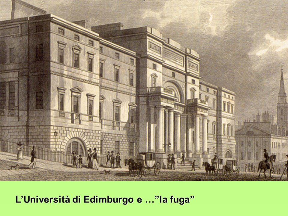 LUniversità di Edimburgo e …la fuga