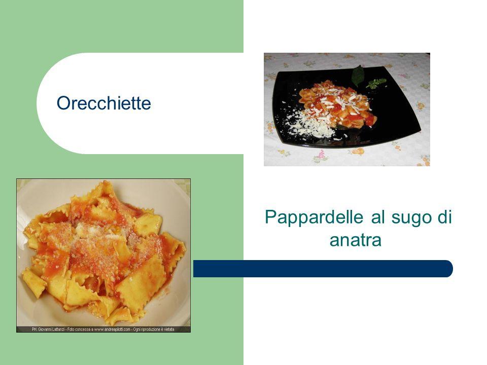 Orecchiette Pappardelle al sugo di anatra