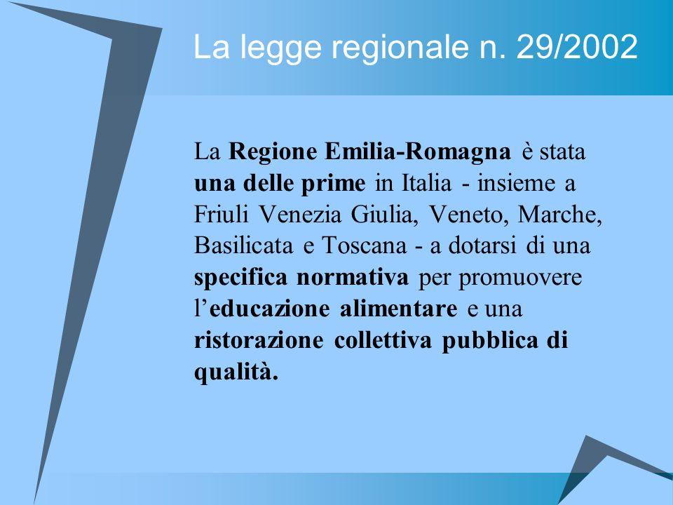La legge regionale n. 29/2002 La Regione Emilia-Romagna è stata una delle prime in Italia - insieme a Friuli Venezia Giulia, Veneto, Marche, Basilicat