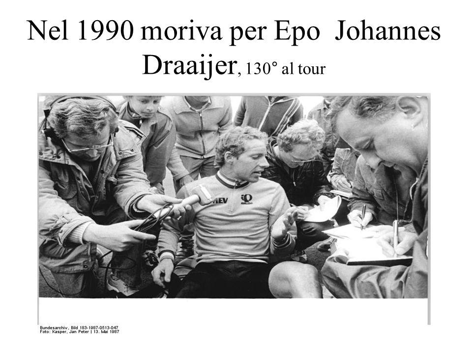 Nel 1990 moriva per Epo Johannes Draaijer, 130° al tour