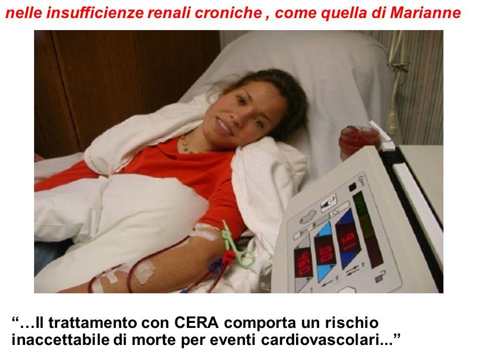 …Il trattamento con CERA comporta un rischio inaccettabile di morte per eventi cardiovascolari...