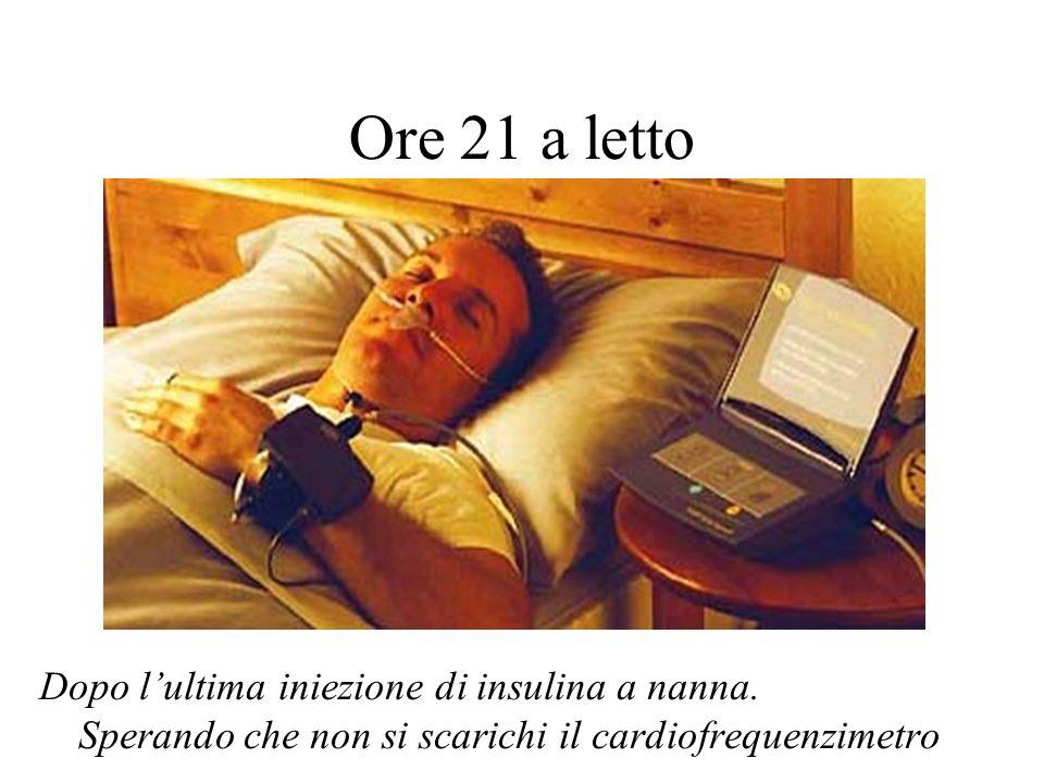 Ore 21 a letto Dopo lultima iniezione di insulina a nanna.