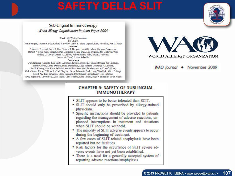 SAFETY DELLA SLIT 107 © 2013 PROGETTO LIBRA www.progetto-aria.it