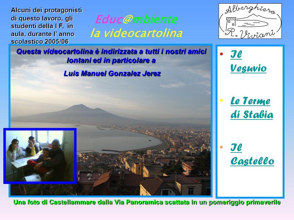 Educ@mbiente la videocartolina Il Vesuvio In Campania è presente una vasta zona Vulcanica di cui fanno parte Ischia, I Campi Flegrei ed il Vesuvio.