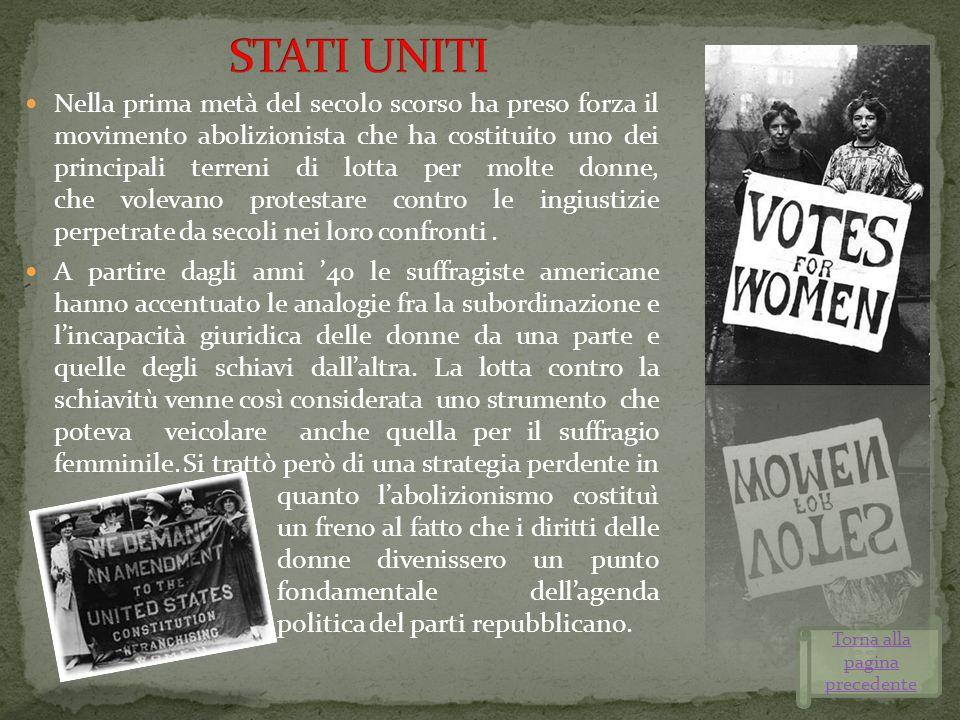 Nella prima metà del secolo scorso ha preso forza il movimento abolizionista che ha costituito uno dei principali terreni di lotta per molte donne, ch