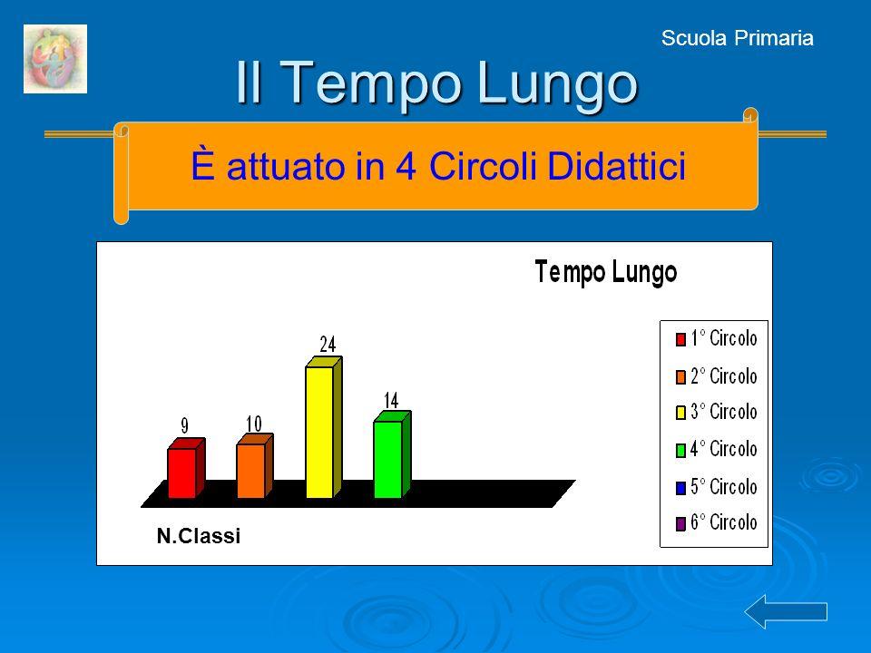 Scuola Primaria Il Tempo Lungo N.Classi È attuato in 4 Circoli Didattici