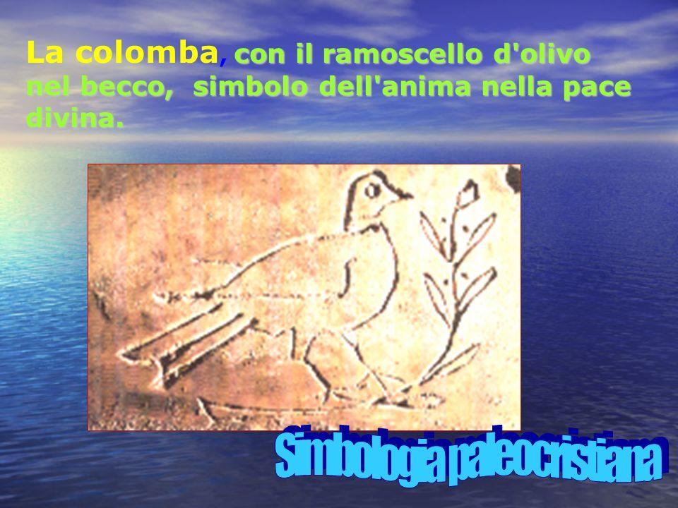 con il ramoscello d olivo nel becco, simbolo dell anima nella pace divina.