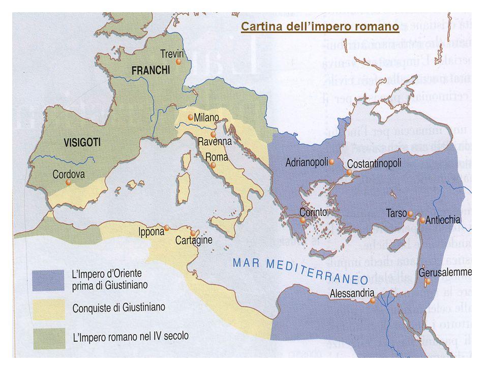 Cartina dellimpero romano