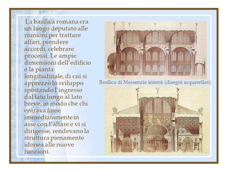 La basilica romana era un luogo deputato alle riunioni per trattare affari, prendere accordi, celebrare processi. Le ampie dimensioni delledificio e l