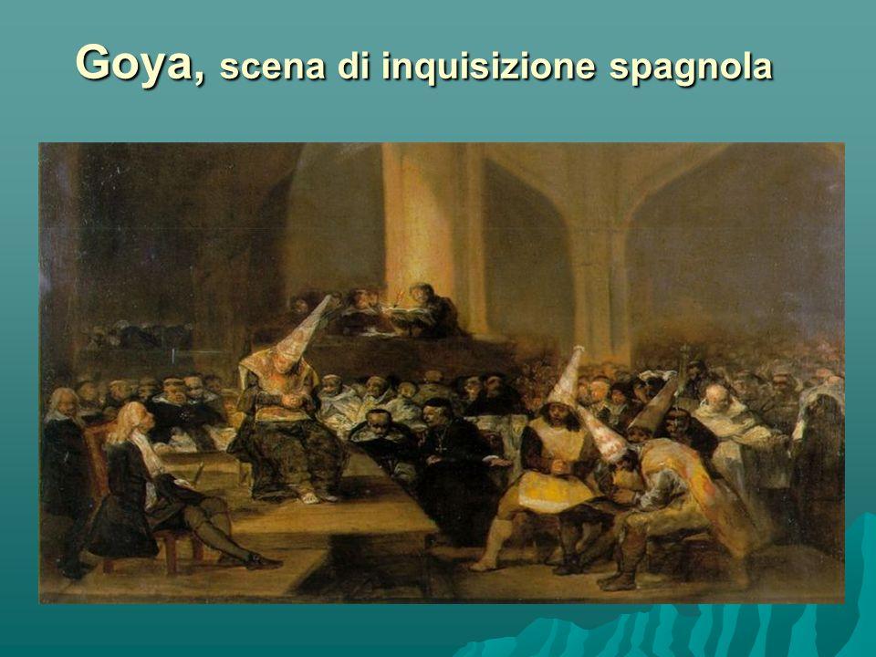 Goya, scena di inquisizione spagnola