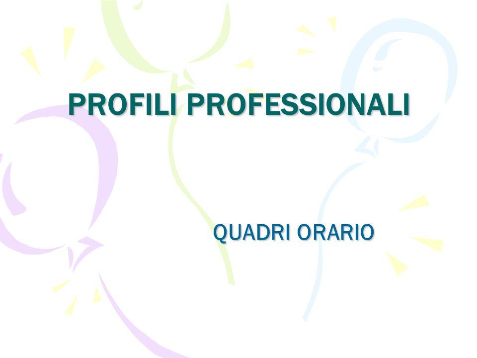 PROFILI PROFESSIONALI QUADRI ORARIO