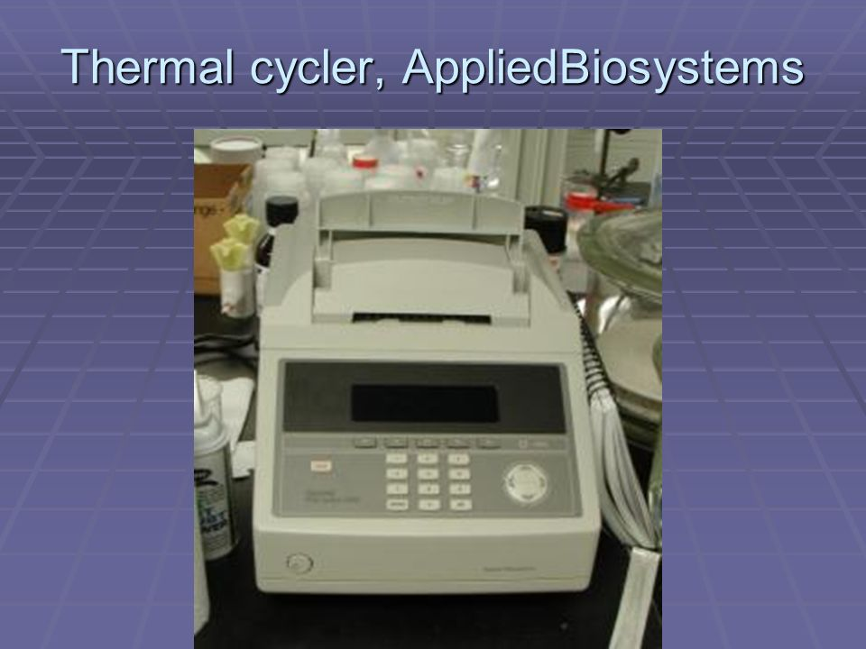 Thermal cycler, AppliedBiosystems