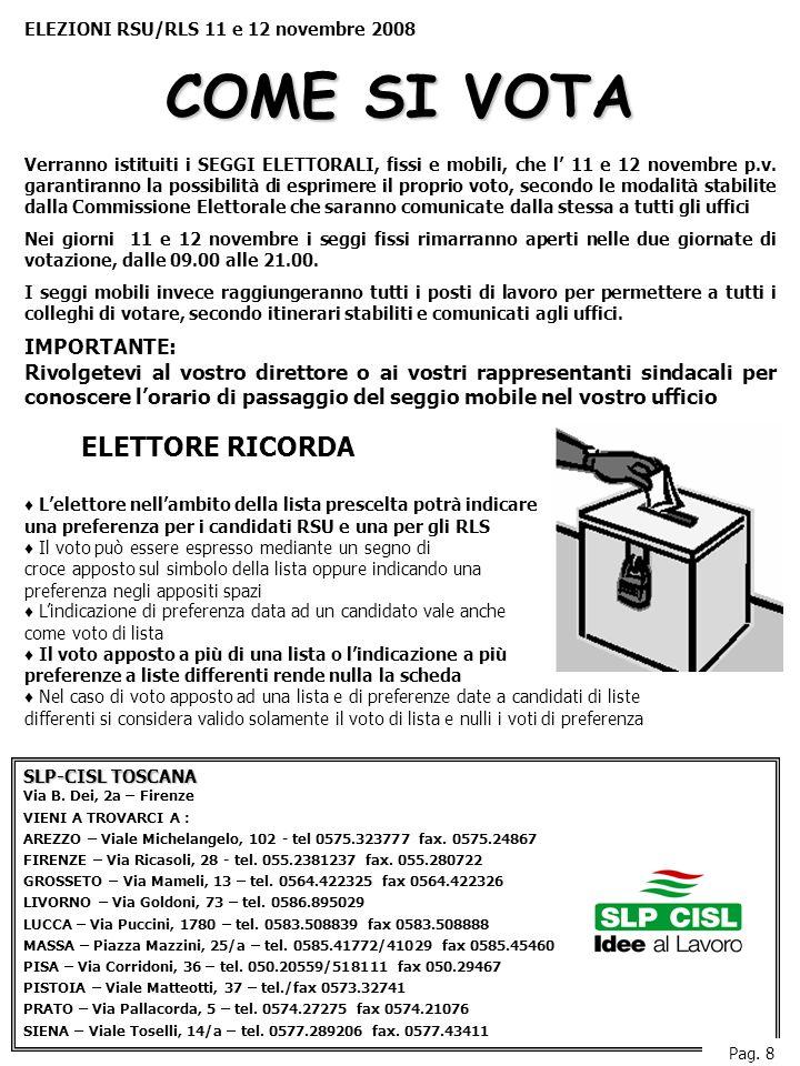 SLP-CISL TOSCANA Via B.