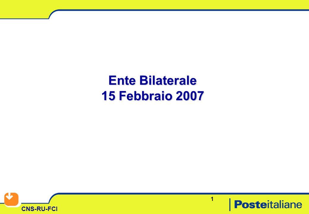 1 CNS-RU-FCI Ente Bilaterale 15 Febbraio 2007