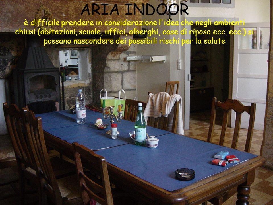 ARIA INDOOR è difficile prendere in considerazione l'idea che negli ambienti chiusi (abitazioni, scuole, uffici, alberghi, case di riposo ecc. ecc.) s