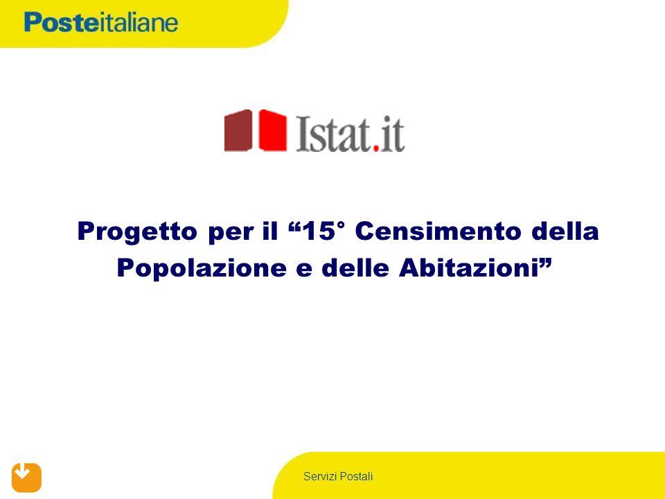 Servizi Postali Progetto per il 15° Censimento della Popolazione e delle Abitazioni