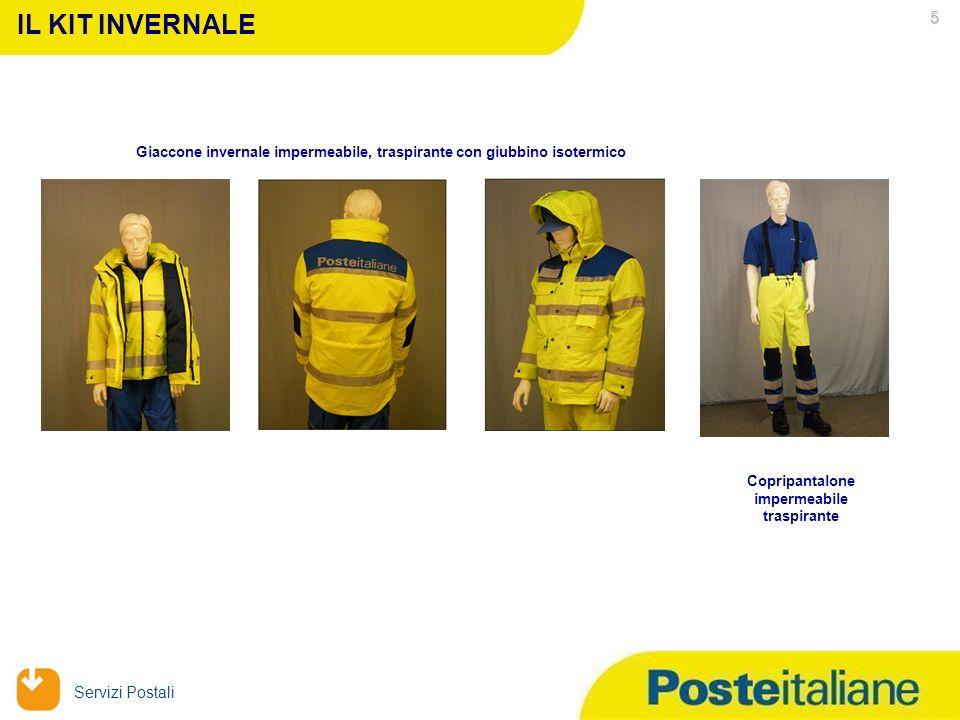 09/02/2014 Servizi Postali Maglia Polo Giubbetto estivo impermeabile traspirante con maniche staccabili IL KIT ESTIVO Pantaloni con rinforzo sul ginoc