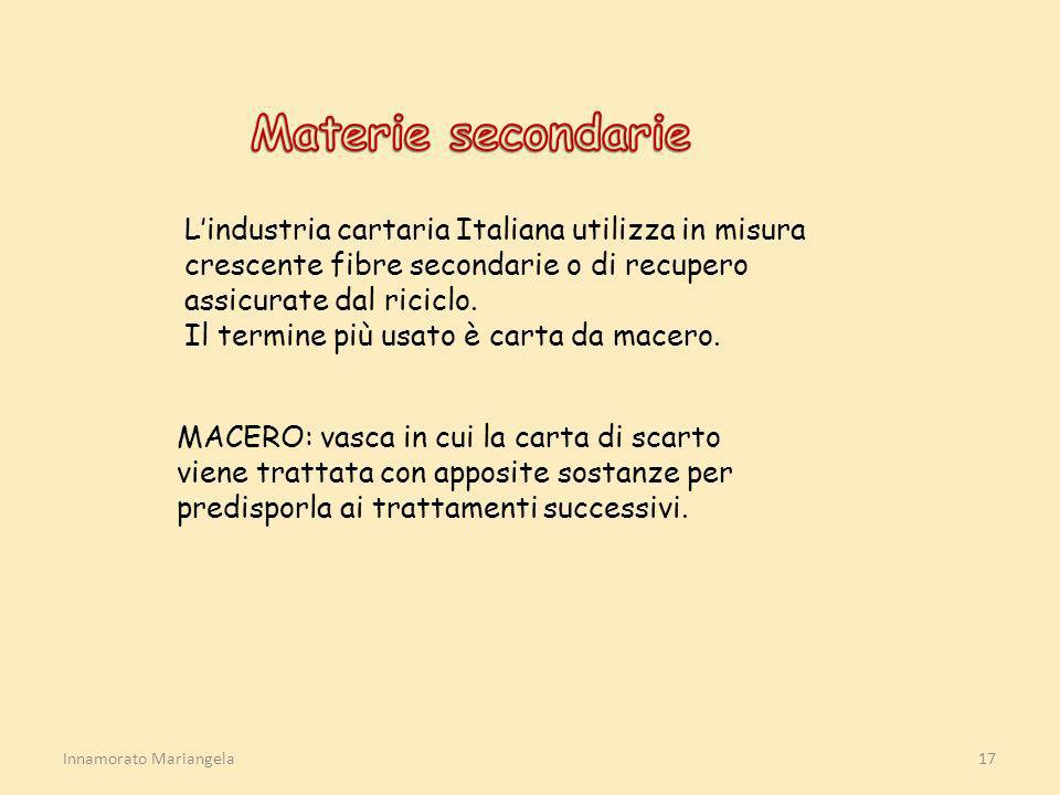 Innamorato Mariangela17 Lindustria cartaria Italiana utilizza in misura crescente fibre secondarie o di recupero assicurate dal riciclo. Il termine pi