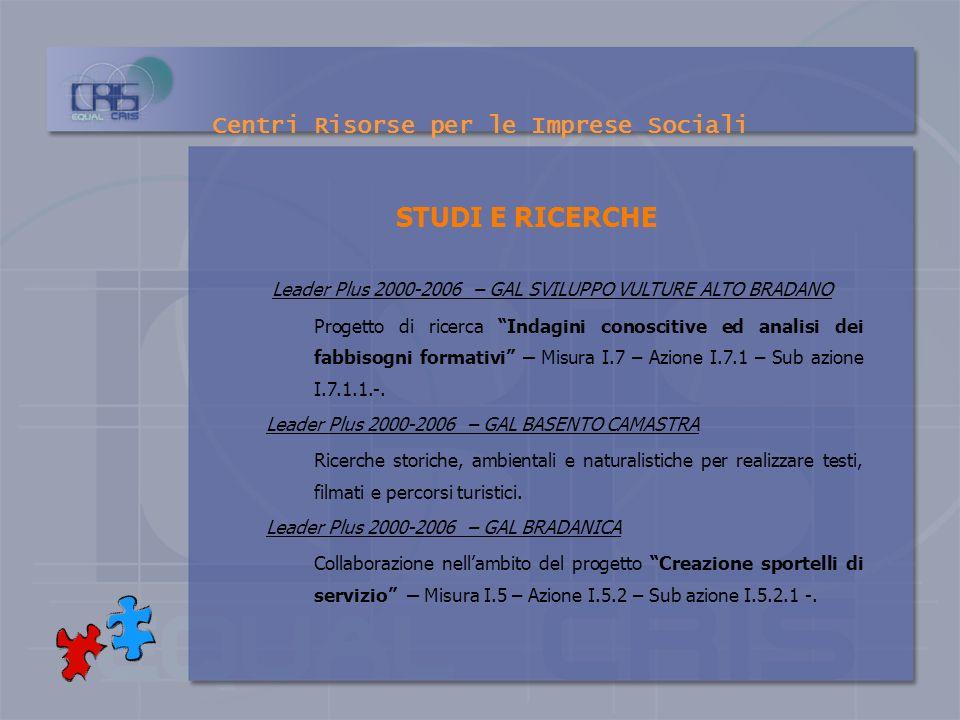 Centri Risorse per le Imprese Sociali PROGETTAZIONE E CONSULENZA p rogetto INTERMEDIA – Progetto sperimentale di sostegno all inserimento lavorativo d