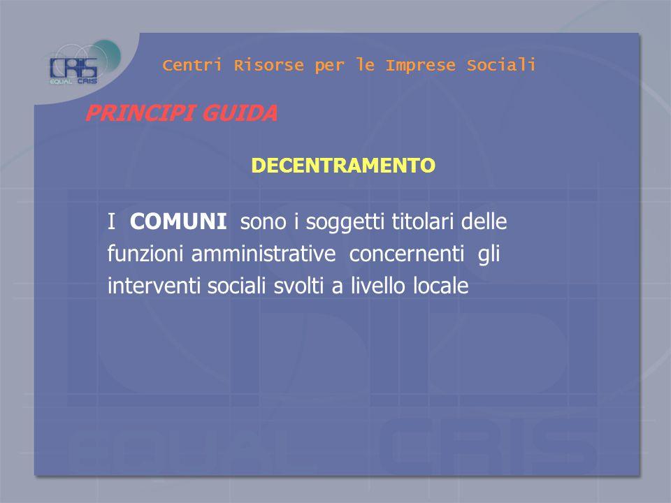PRINCIPI GUIDA LA SUSSIDIARIETÀ ORIZZONTALE E il coinvolgimento diretto delle formazioni sociali (famiglie, associazioni, cooperative, organizzazioni