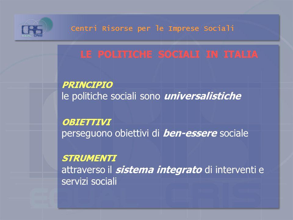 Elementi fondamentali per la realizzazione dei servizi sociali sono: La programmazione degli interventi e delle risorse attraverso - il coordinamento