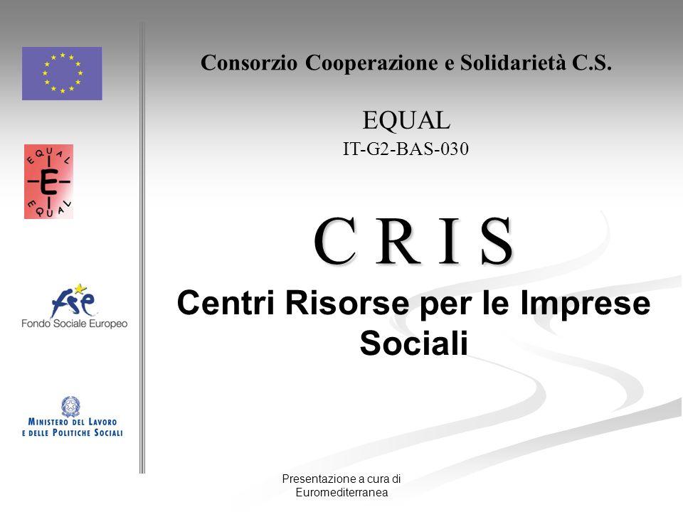 Presentazione a cura di Euromediterranea C R I S Centri Risorse per le Imprese Sociali Consorzio Cooperazione e Solidarietà C.S. EQUAL IT-G2-BAS-030