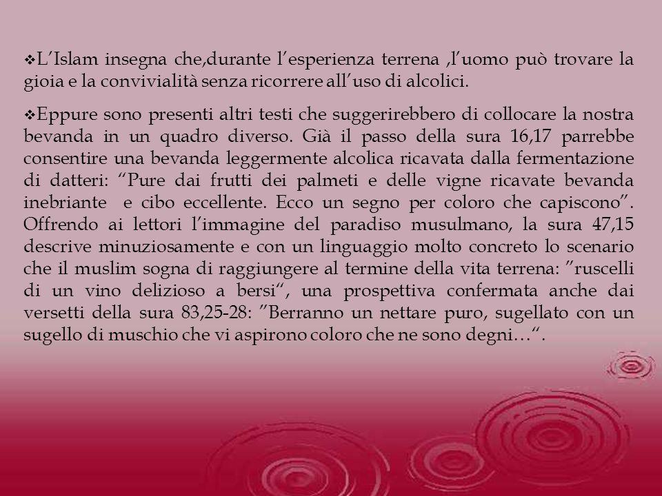 La ricchezza simbolica dellAT si ripercuote anche nel NT, Paolo non usa mezzi termini per mettere in guardia dalluso sconsiderato del vino che può portare alla dissolutezza: E non ubriacatevi di vino, il quale porta alla sfrenatezza(Ef5,18).