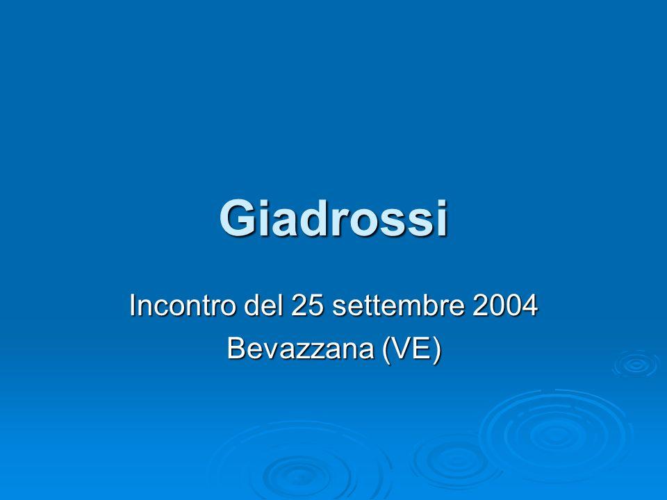 Giadrossi Incontro del 25 settembre 2004 Bevazzana (VE)