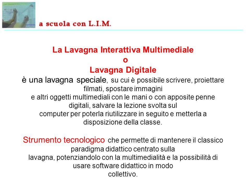 La Lavagna Interattiva Multimediale o Lavagna Digitale è una lavagna speciale, su cui è possibile scrivere, proiettare filmati, spostare immagini e al