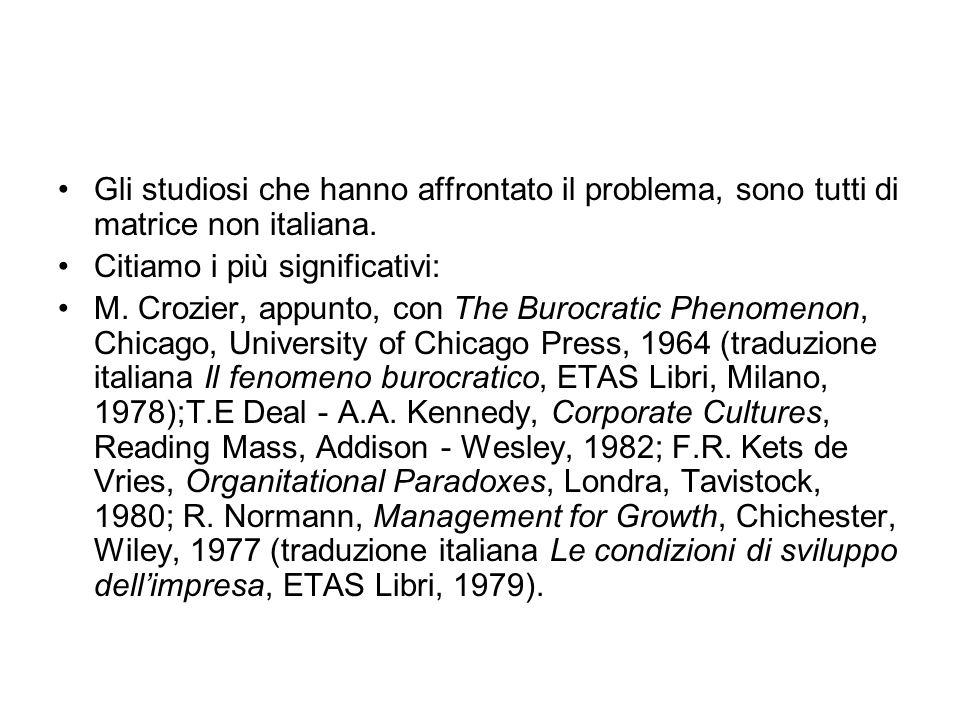 Gli studiosi che hanno affrontato il problema, sono tutti di matrice non italiana.