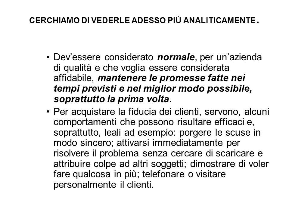 CERCHIAMO DI VEDERLE ADESSO PIÙ ANALITICAMENTE.