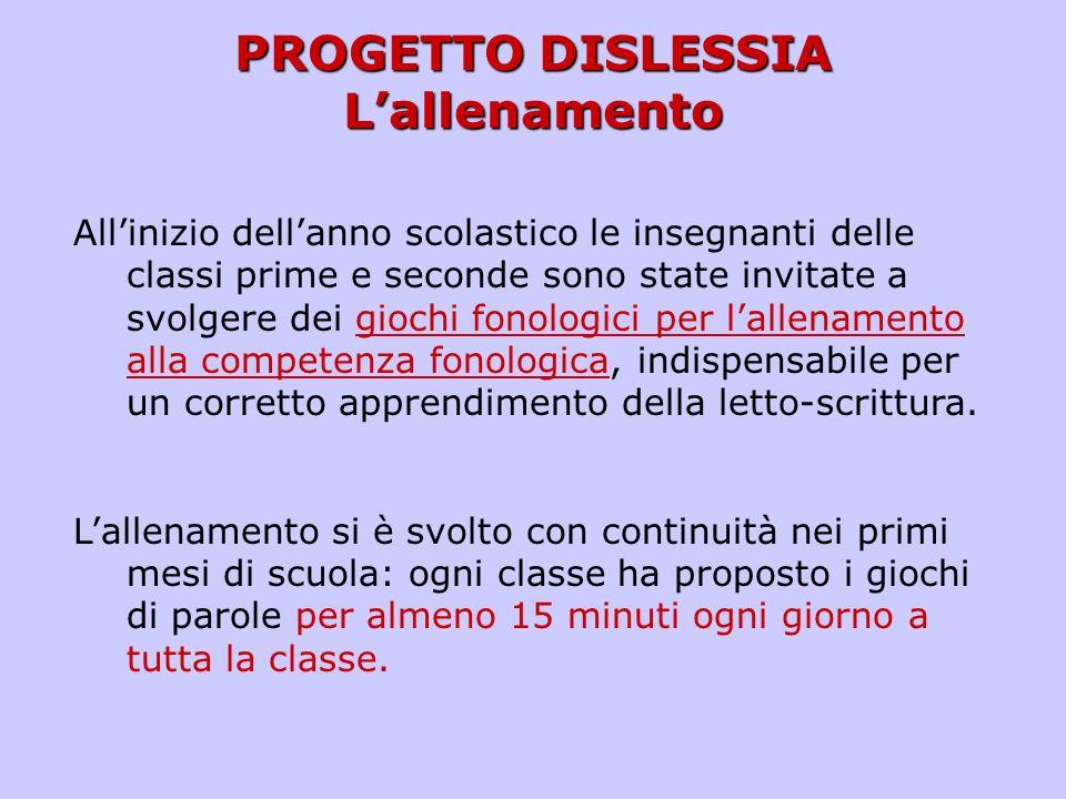 PROGETTO DISLESSIA – classi prime (anno scol. 2010/2011)