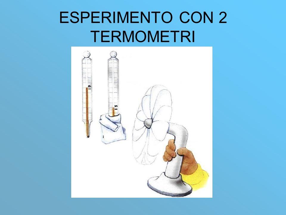 ESPERIMENTO CON 2 TERMOMETRI