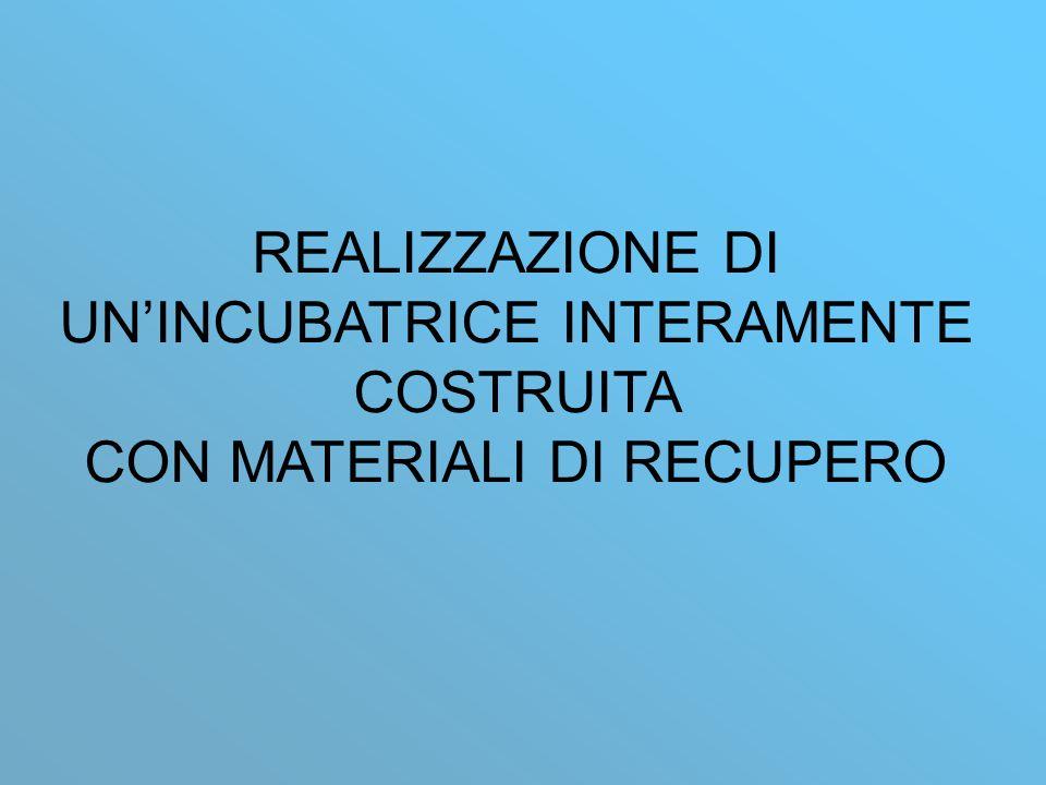 REALIZZAZIONE DI UNINCUBATRICE INTERAMENTE COSTRUITA CON MATERIALI DI RECUPERO