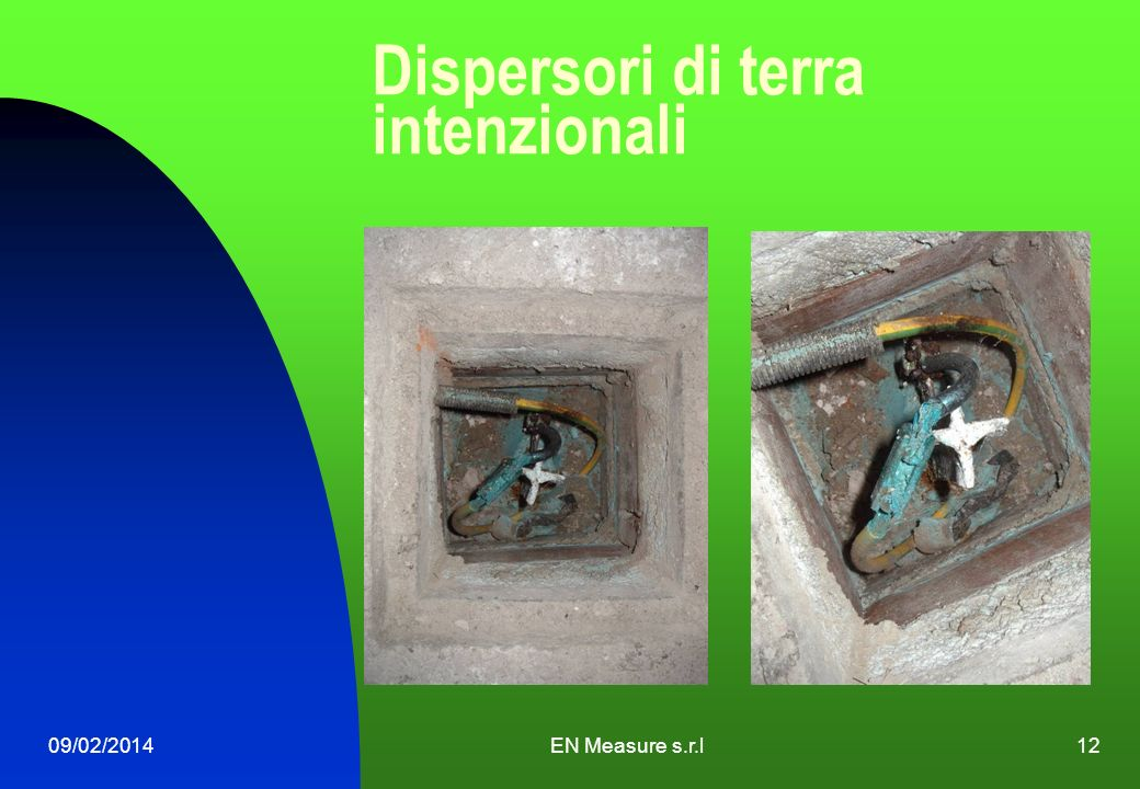 Dispersori di terra intenzionali 09/02/2014EN Measure s.r.l12