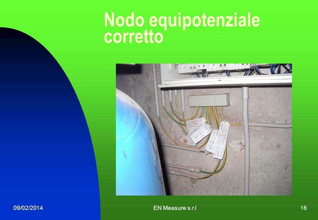 Nodo equipotenziale corretto 09/02/2014EN Measure s.r.l16