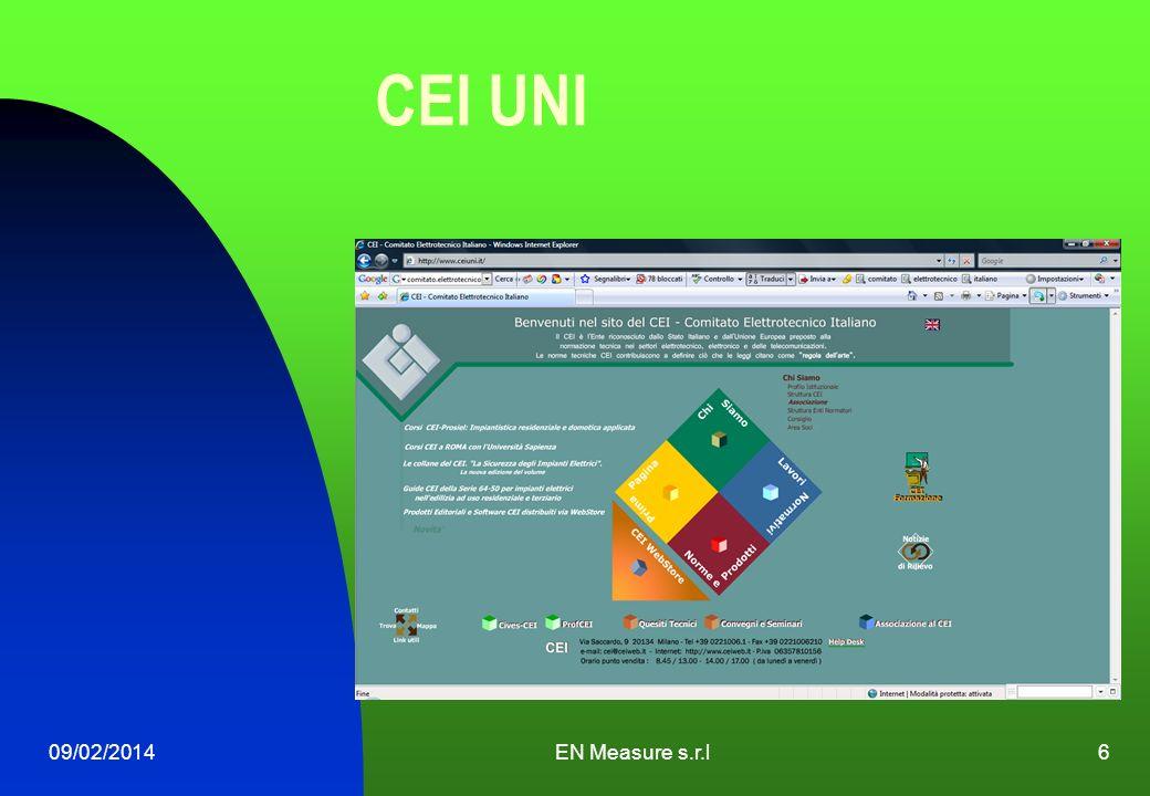 CEI UNI 09/02/2014EN Measure s.r.l6
