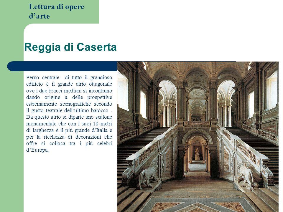Lettura di opere darte Reggia di Caserta Perno centrale di tutto il grandioso edificio è il grande atrio ottagonale ove i due bracci mediani si incont