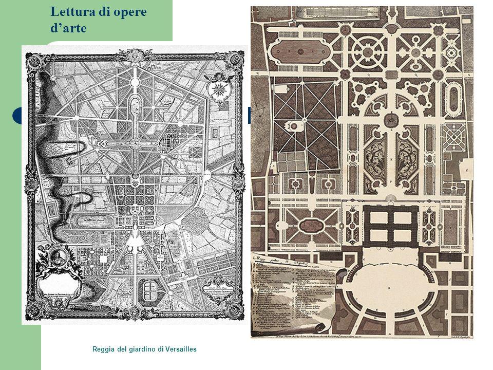 Lettura di opere darte Reggia del giardino di Versailles