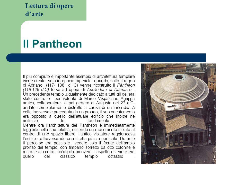 Lettura di opere darte Il Pantheon