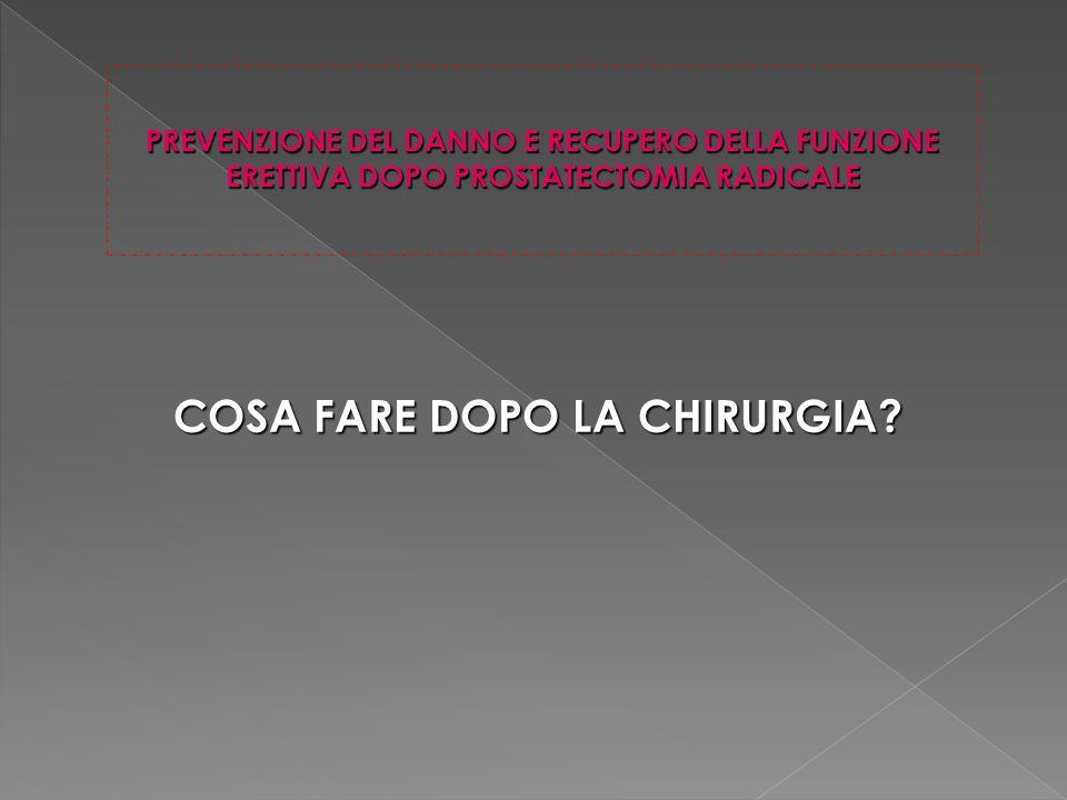 COSA FARE DOPO LA CHIRURGIA.
