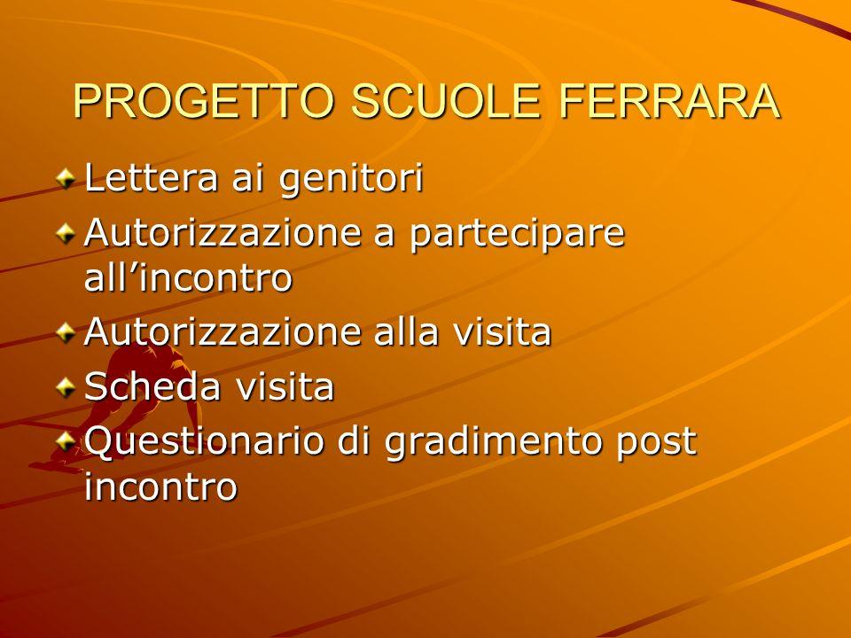 PROGETTO SCUOLE FERRARA Comunicazione alla famiglia Scarso feed-back