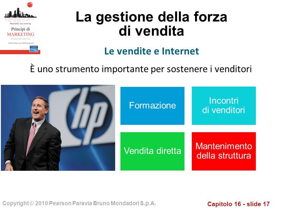 Capitolo 16 - slide 17 Copyright © 2010 Pearson Paravia Bruno Mondadori S.p.A.