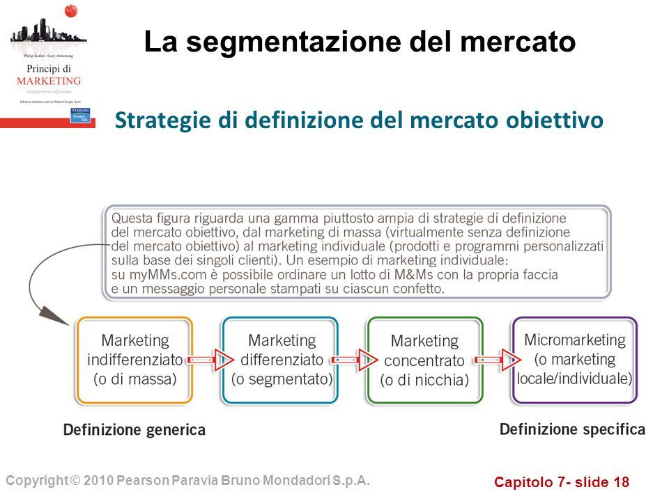 Capitolo 7- slide 18 Copyright © 2010 Pearson Paravia Bruno Mondadori S.p.A.